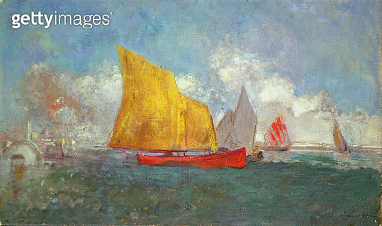 <b>Title</b> : Yachts in a Bay<br><b>Medium</b> : <br><b>Location</b> : Christie's Images, London, UK<br> - gettyimageskorea