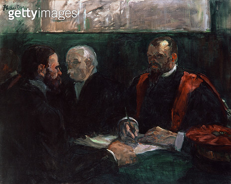 <b>Title</b> : Examination at the Faculty of Medicine, 1901 (oil on canvas)<br><b>Medium</b> : oil on canvas<br><b>Location</b> : Musee Toulouse-Lautrec, Albi, France<br> - gettyimageskorea