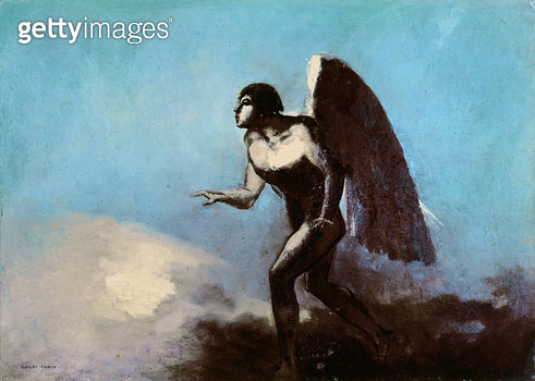 <b>Title</b> : The Winged Man or, Fallen Angel, before 1880 (oil on cardboard)<br><b>Medium</b> : oil on cardboard<br><b>Location</b> : Musee des Beaux-Arts, Bordeaux, France<br> - gettyimageskorea