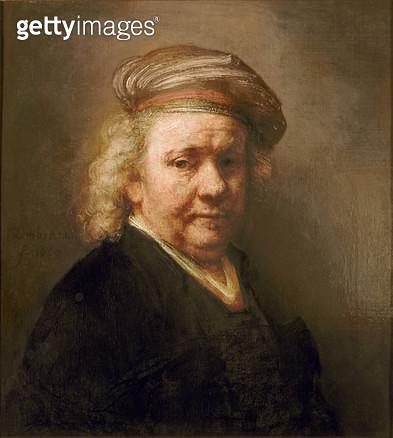 <b>Title</b> : Self Portrait, 1669<br><b>Medium</b> : oil on canvas<br><b>Location</b> : Mauritshuis, The Hague, The Netherlands<br> - gettyimageskorea