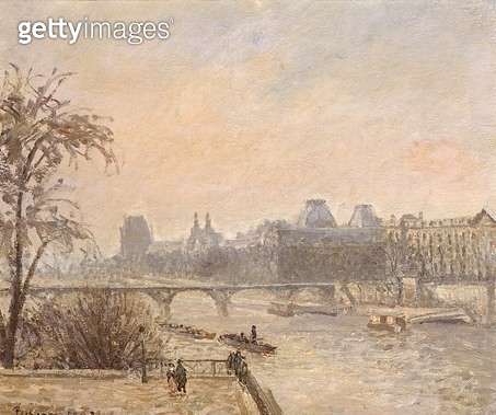 <b>Title</b> : The Seine and the Louvre, 1903 (oil on canvas)<br><b>Medium</b> : oil on canvas<br><b>Location</b> : Musee d'Orsay, Paris, France<br> - gettyimageskorea