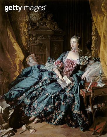 <b>Title</b> : Madame de Pompadour, 1756 (oil on canvas)<br><b>Medium</b> : oil on canvas<br><b>Location</b> : Alte Pinakothek, Munich, Germany<br> - gettyimageskorea