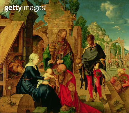 <b>Title</b> : Adoration of the Magi, 1504 (oil on panel)<br><b>Medium</b> : oil on panel<br><b>Location</b> : Galleria degli Uffizi, Florence, Italy<br> - gettyimageskorea