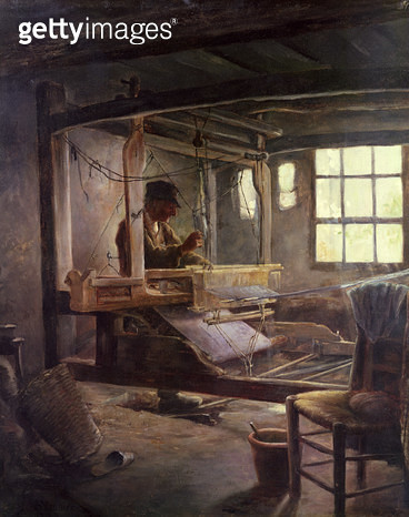 <b>Title</b> : The Breton Weaver, 1888 (oil on canvas)<br><b>Medium</b> : oil on canvas<br><b>Location</b> : Musee d'Art et d'Archeologie, Senlis, France<br> - gettyimageskorea