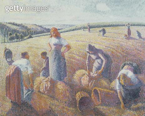 <b>Title</b> : Women Haymaking, 1889<br><b>Medium</b> : oil on canvas<br><b>Location</b> : Dreyfus Foundation, Kunstmuseum, Basel, Switzerland<br> - gettyimageskorea