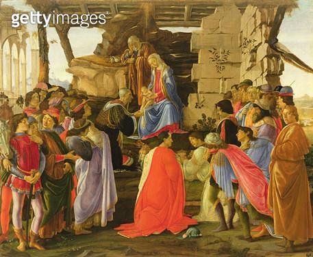 <b>Title</b> : Adoration of the Magi (tempera on panel)<br><b>Medium</b> : tempera on panel<br><b>Location</b> : Galleria degli Uffizi, Florence, Italy<br> - gettyimageskorea