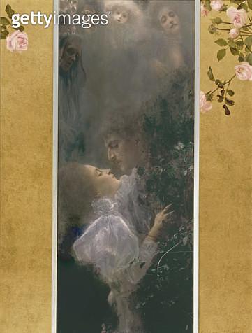 <b>Title</b> : Love, 1895 (oil on canvas)<br><b>Medium</b> : oil on canvas<br><b>Location</b> : Kunsthistorisches Museum, Vienna, Austria<br> - gettyimageskorea