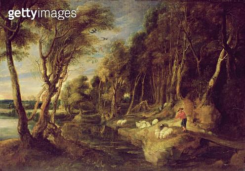 <b>Title</b> : Landscape with a shepherd<br><b>Medium</b> : <br><b>Location</b> : <br> - gettyimageskorea