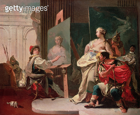 <b>Title</b> : Alexander and Campaspe in the Studio of Apelles<br><b>Medium</b> : oil on canvas<br><b>Location</b> : Private Collection<br> - gettyimageskorea