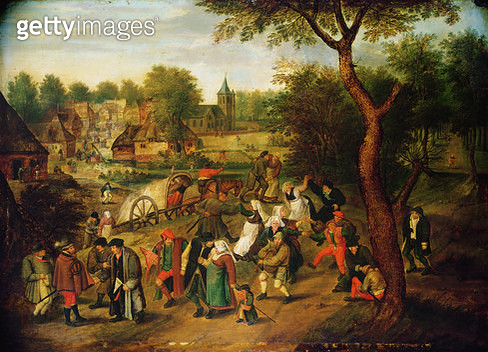 <b>Title</b> : A scene on the outskirts of a village<br><b>Medium</b> : <br><b>Location</b> : Private Collection<br> - gettyimageskorea