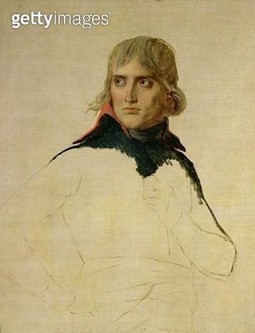 <b>Title</b> : Unfinished portrait of General Bonaparte (1769-1821) c.1797-98 (oil on canvas)<br><b>Medium</b> : oil on canvas<br><b>Location</b> : Louvre, Paris, France<br> - gettyimageskorea