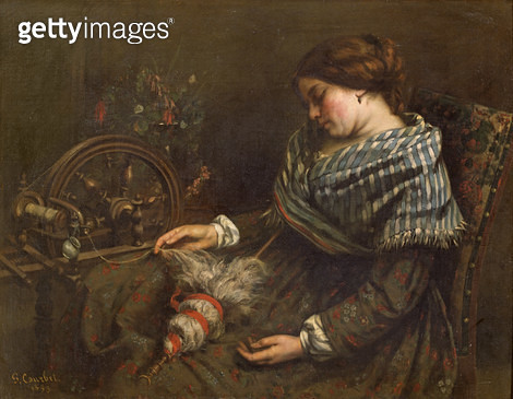 <b>Title</b> : The Sleeping Embroiderer, 1853 (oil on canvas)<br><b>Medium</b> : oil on canvas<br><b>Location</b> : Musee Fabre, Montpellier, France<br> - gettyimageskorea