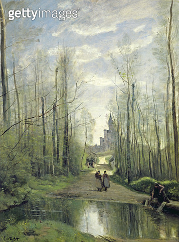 <b>Title</b> : The Church at Marissel, 1866 (oil on canvas)<br><b>Medium</b> : oil on canvas<br><b>Location</b> : Louvre, Paris, France<br> - gettyimageskorea