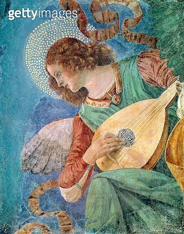<b>Title</b> : Angel Musician (fresco)<br><b>Medium</b> : fresco<br><b>Location</b> : Vatican Museums and Galleries, Vatican City, Italy<br> - gettyimageskorea
