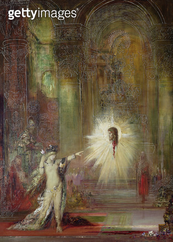 <b>Title</b> : The Apparition (oil on canvas)<br><b>Medium</b> : oil on canvas<br><b>Location</b> : Musee Gustave Moreau, Paris, France<br> - gettyimageskorea