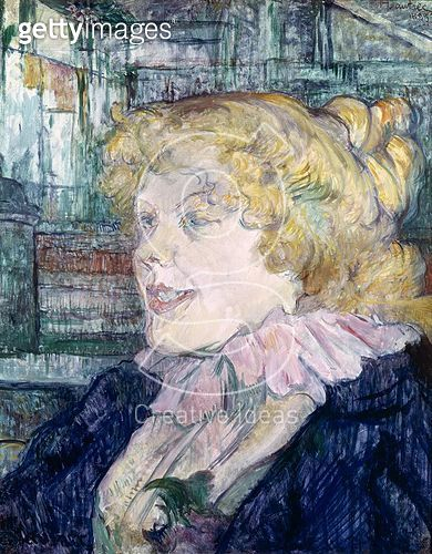 <b>Title</b> : The English Girl from 'The Star' at Le Havre, 1899 (oil on panel)<br><b>Medium</b> : oil on panel<br><b>Location</b> : Musee Toulouse-Lautrec, Albi, France<br> - gettyimageskorea