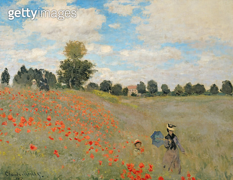 <b>Title</b> : Wild Poppies, near Argenteuil (Les Coquelicots: environs d'Argenteuil), 1873<br><b>Medium</b> : oil on canvas<br><b>Location</b> : Musee d'Orsay, Paris, France<br> - gettyimageskorea