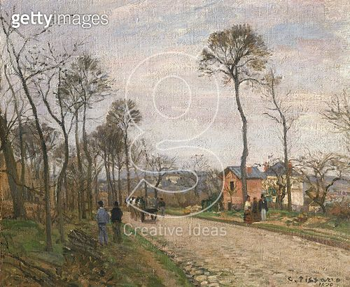 <b>Title</b> : The Road from Louveciennes, 1870 (oil on canvas)<br><b>Medium</b> : oil on canvas<br><b>Location</b> : Musee d'Orsay, Paris, France<br> - gettyimageskorea