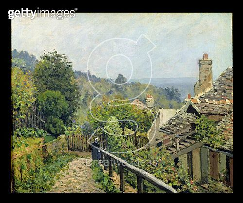 <b>Title</b> : Louveciennes or, The Heights at Marly, 1873 (oil on canvas)<br><b>Medium</b> : oil on canvas<br><b>Location</b> : Musee d'Orsay, Paris, France<br> - gettyimageskorea