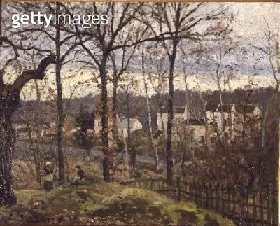 Winter Landscape at Louveciennes/ c.1870 (oil on canvas) - gettyimageskorea
