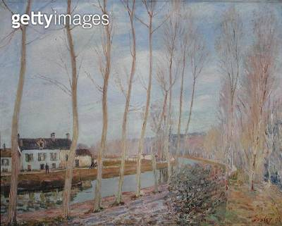 <b>Title</b> : The Loing Canal, 1892 (oil on canvas)<br><b>Medium</b> : oil on canvas<br><b>Location</b> : Musee d'Orsay, Paris, France<br> - gettyimageskorea