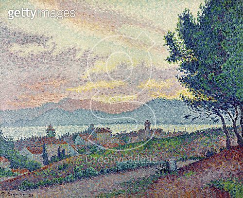 <b>Title</b> : St. Tropez, Pinewood, 1896 (oil on canvas)<br><b>Medium</b> : oil on canvas<br><b>Location</b> : Musee de l'Annonciade, Saint-Tropez, France<br> - gettyimageskorea