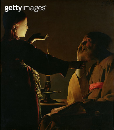 <b>Title</b> : Joseph and the Angel, 1652 (oil on canvas) (see 197670-197671 for details)Additional Infoapparition de l'ange a Joseph; subject<br><b>Medium</b> : oil on canvas<br><b>Location</b> : Musee des Beaux-Arts, Nantes, France<br> - gettyimageskorea